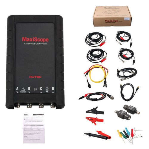 Original Autel MaxiScope MP408 4 Channel Automotive Oscilloscope Basic Kit Works with Maxisys Tool Global Free Shipping