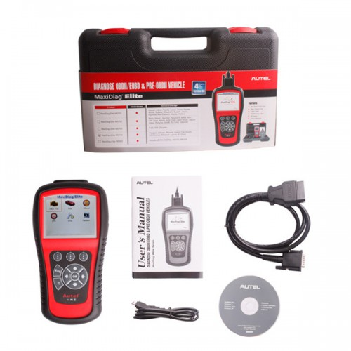 Original Autel MaxiDiag Elite MD704 Four System with Data Stream Update Online