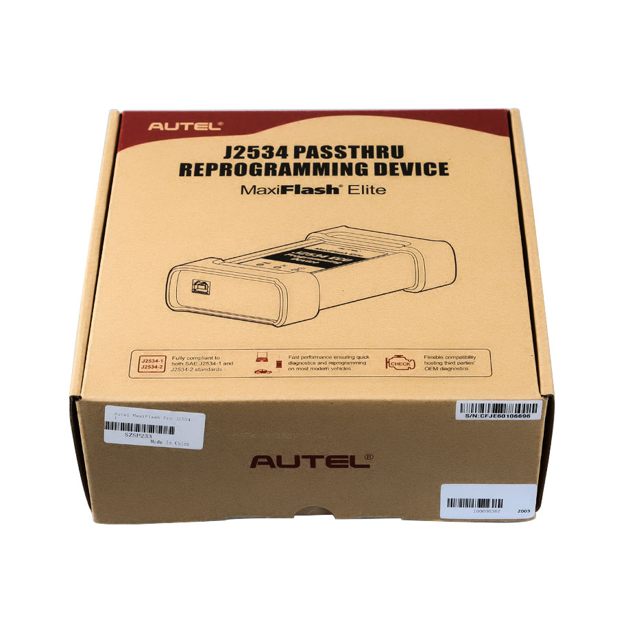 Original Autel MaxiFlash Pro J2534 ECU Programming Tool Works with Maxisys 908/908P Global Free Shipping by DHL