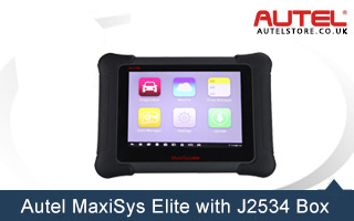 [Free Shipping] Original AUTEL MaxiSys Elite with Wifi / Bluetooth Full Diagnostic Scanner with J2534 ECU Programming Box Update Online