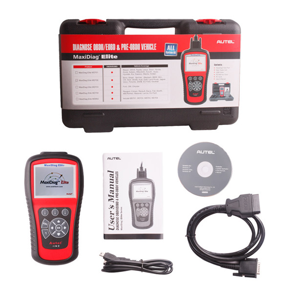 Autel MaxiDiag Elite MD702 Full System with Data Stream European Vehicle Diagnostic Tool