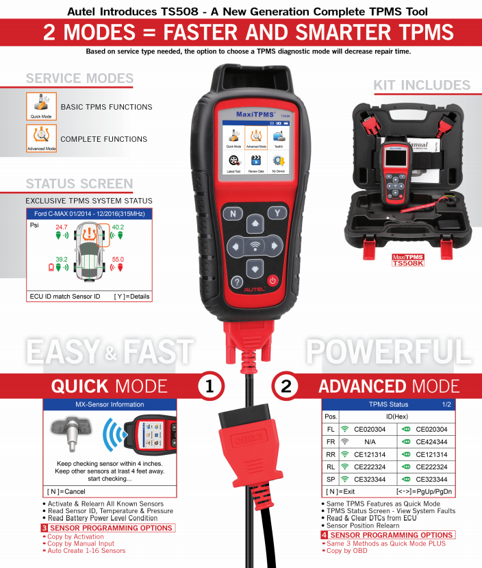 Autel MaxiTPMS TS508 Introduction pic