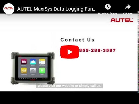 AUTEL MaxiSys Data Logging Function