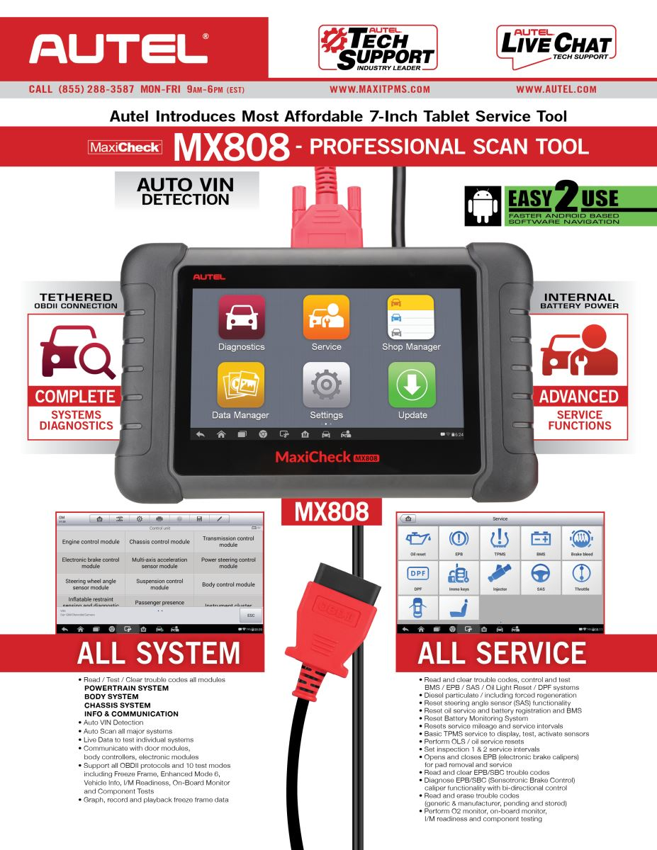 Autel Maxicheck MX808 Instruction