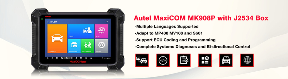Multi-Language】Autel MaxiCOM MK908P Full System Diagnostic Tool