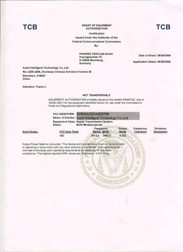 autel ds708 fcc document 2