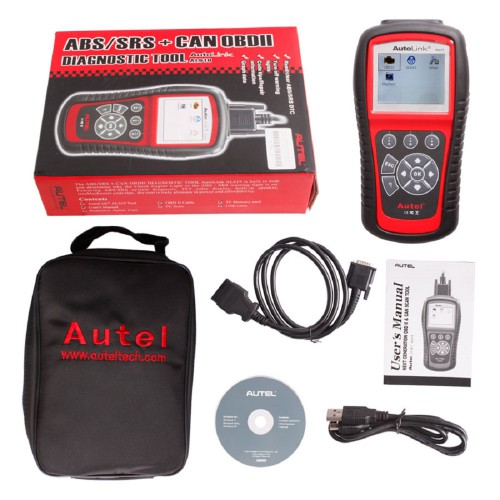 100% Original Autel AutoLink AL619 ABS/SRS OBDII CAN Diagnostic Tool Global Free Shipping by DHL