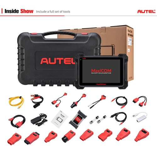 [Ship from UK] Original Autel MaxiCOM MK908P Full System Diagnostic Tool with J2534 Box Support ECU Coding and Programming