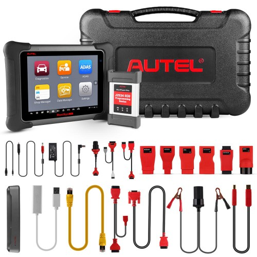 Original AUTEL MaxiSys Elite with Wifi / Bluetooth Full Diagnostic Scanner with J2534 ECU Programming Box Update Online