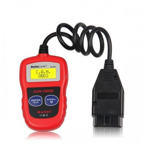[Free Shipping] Autel AutoLink AL301 OBDII/CAN Code Reader Clear DTCs Easiest-To-Sse Tool For DIY Customers