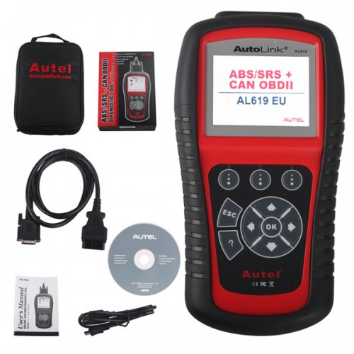 [Ship from UK] Original Autel AutoLink AL619EU ABS/SRS OBDII CAN Diagnostic Tool (Support Citroen/Peugeot)