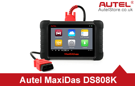 [Ship from UK] Original Autel MaxiDAS DS808K Tablet Diagnostic Tool Full Set Support Injector Coding Update Online