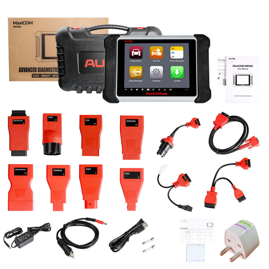 【Multi-Language】Original Autel MaxiCOM MK906 Online Programming &  Diagnostic Tool Update Online As Same As MS906