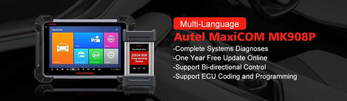 Autel MaxiCOM MK908P Full System Diagnostic Tool Support ECU